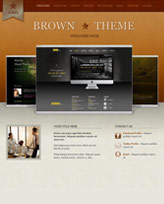 iWeb Template: Brown Theme