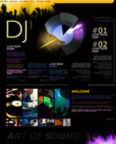 iWeb Template: DJ Theme