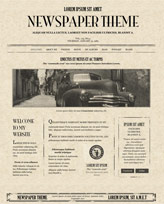 iWeb Template: Newspaper
